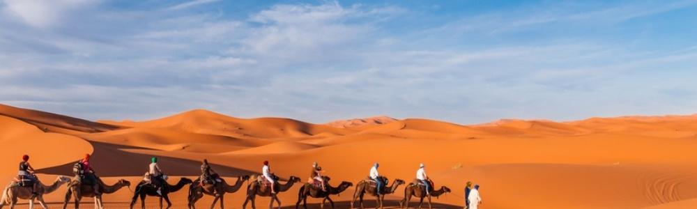 Frauen Karawane in Marokko