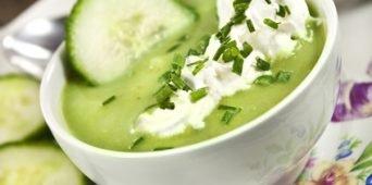 Kalte  Gurken - Yoghurt Suppe
